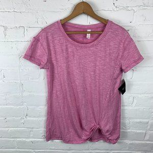 Ideology Pink Short Sleeve T-Shirt Top Size Small